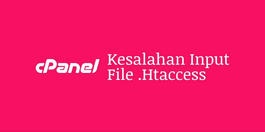 Kesalahan Input File .Htaccess